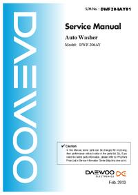 Руководство по техническому обслуживанию Daewoo DWF-204AY