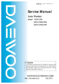 Manual de servicio Daewoo DWF-178L