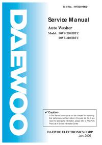 Servicehandboek Daewoo DWF-200HBTC