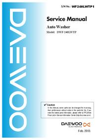 Service Manual Daewoo DWF-240LWTP