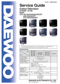 Service Manual Daewoo DTP-14V5