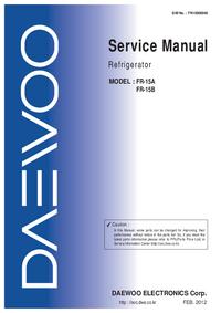 Servicehandboek Daewoo FR-15B