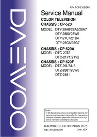 Service Manual Daewoo DTY-28A6