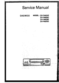 Service Manual Daewoo DV-F44