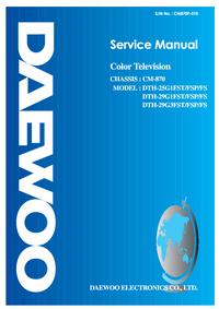 Manuale di servizio Daewoo DTH-25G1FS