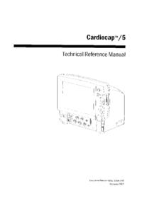 Manual de serviço DatexOhmeda Cardiocap /5