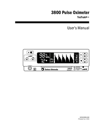 User Manual DatexOhmeda 3800