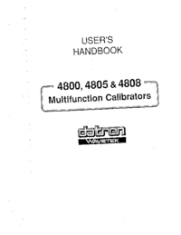 Manual del usuario Datron 4805