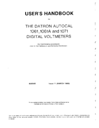 User Manual Datron 1061