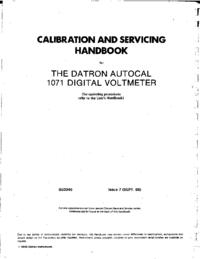 Service Manual Datron 1071