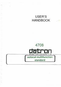 Bedienungsanleitung Datron 4708