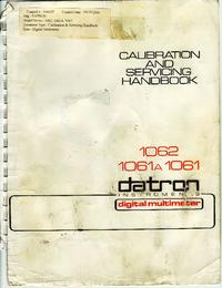 Руководство по техническому обслуживанию Datron 1061A