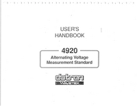 Manual del usuario Datron 4920