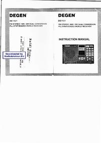 Gebruikershandleiding Degen DE1121