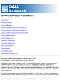 Manual del usuario Dell Inspirion 3800