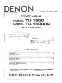 Manual de servicio Denon TU-1500RD