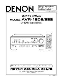 Service Manual Denon AVR-882