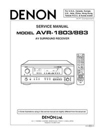 Servicehandboek Denon AVR-1803