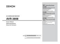 Bedienungsanleitung Denon AVR-3808