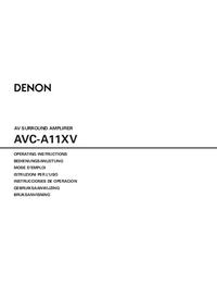 Руководство пользователя Denon AVC-A11XV