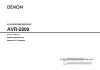 Manual do Usuário Denon AVR-2809
