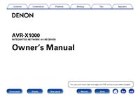 Bedienungsanleitung Denon AVR-X1000