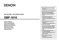 Gebruikershandleiding Denon DBP-1610