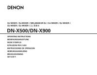 Manuale d'uso Denon DN-X500