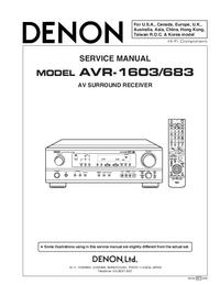Service Manual Denon AVR-683