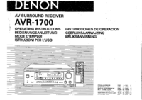 Manual del usuario Denon AVR-1700