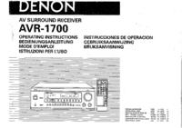 User Manual Denon AVR-1700