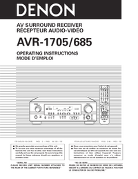 Manual del usuario Denon AVR-685