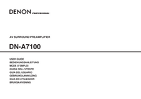 Manual del usuario Denon DN-A7100