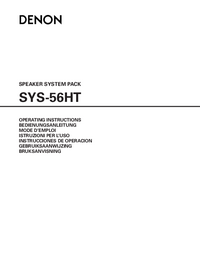 User Manual Denon SYS-56HT