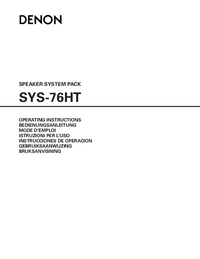 Manual del usuario Denon SYS-76HT