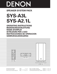 Manual del usuario Denon SYS-A2.1L