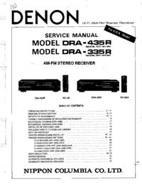 Servicehandboek Denon DRA-435R