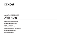 User Manual Denon AVR-1906