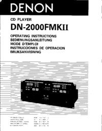 User Manual Denon DN-2000FMK II