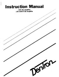 Servicio y Manual del usuario Dentron 160-10L