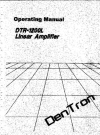 Servicio y Manual del usuario Dentron DTR-1200L