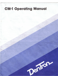 Serwis i User Manual Dentron CM1