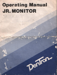 Instrukcja obsługi Dentron JR. Monitor