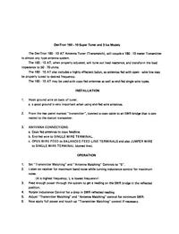 Instrukcja obsługi Dentron 160-10
