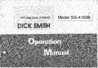 User Manual with schematics Dicksmithelectronics SG-4160B