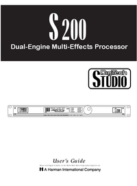 Manuale d'uso Digitech S200