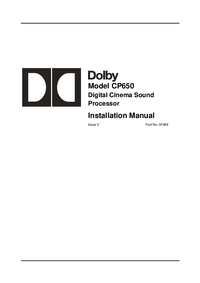 User Manual Dolby CP650