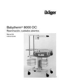 Bedienungsanleitung Dräger Babytherm 8000 OC
