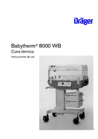 User Manual Dräger Babytherm 8000 WB