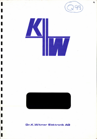 Service et Manuel de l'utilisateur DrKWitmerElectronic TI 36/4 ATE